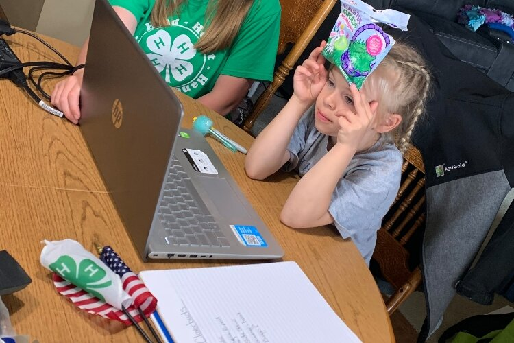 Addison Brentlinger is one of the many 4-Hers who participated in virtual club meetings this year.