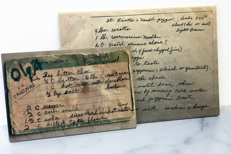 Preserved family recipes