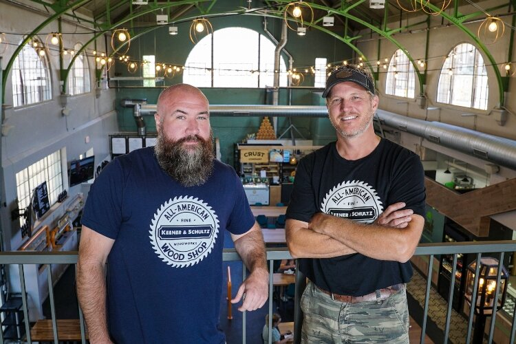 Mark Schultz and Gary Keener are the owners of Keener & Schultz Fine Woodworks, where they create handmade, custom designs.