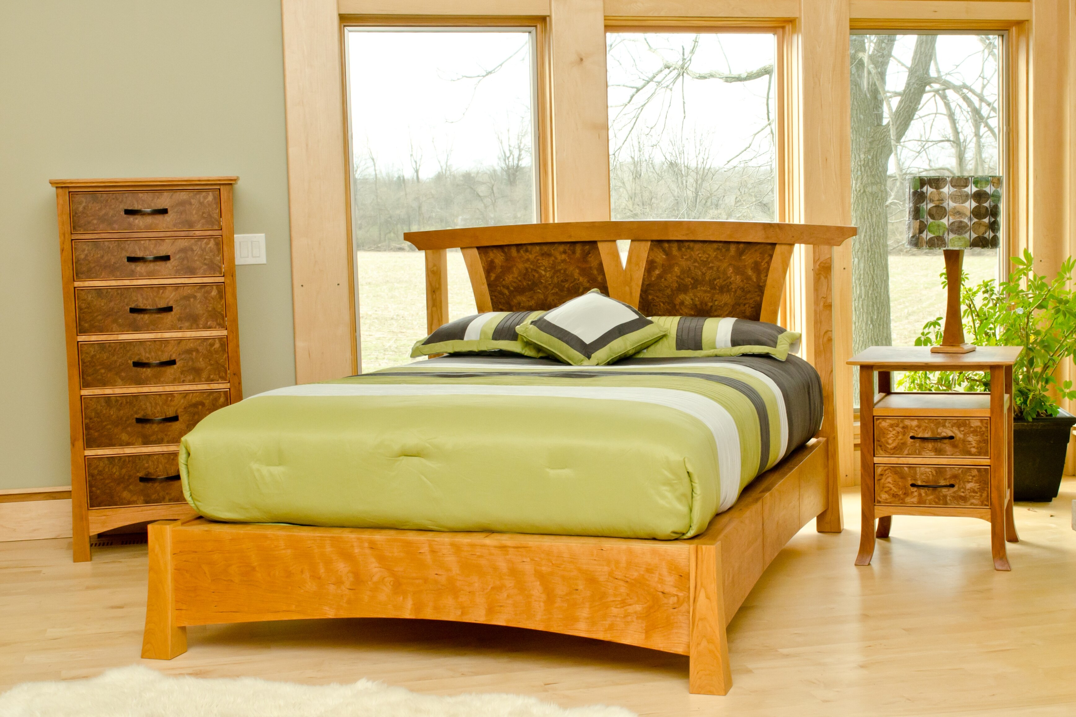 This bedroom set is one of the many custom designs from Keener & Schultz Fine Woodworks.