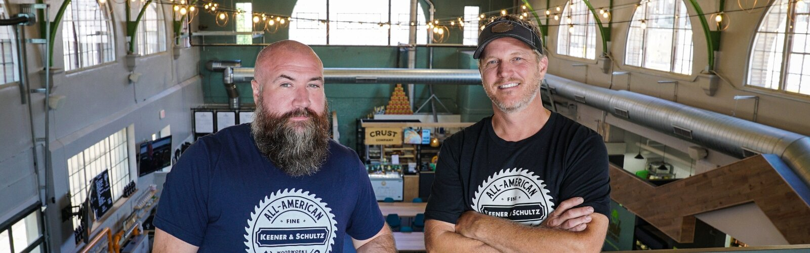 Mark Schultz and Gary Keener own and operate Keener & Schultz Fine Woodworks, through which they build and sell handmade, custom pieces locally and nationwide.
