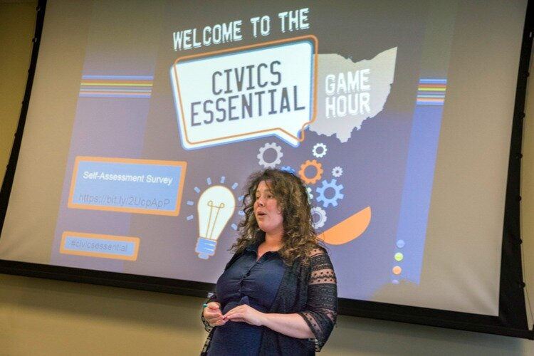 Brittany York leads the Civics Essential trivia series and created the virtual games this summer.