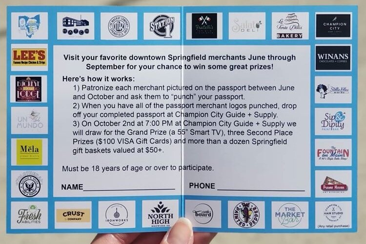 This year, 26 businesses are participating in the Downtown Passports. Stop in to any of them to get yours.