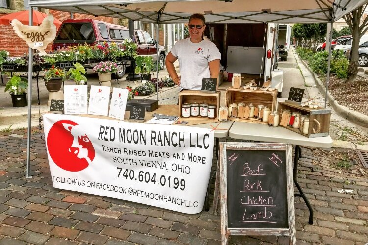 Shelby Toops owns Red Moon Ranch and sold her products at the Springfield Farmer's Market last summer.