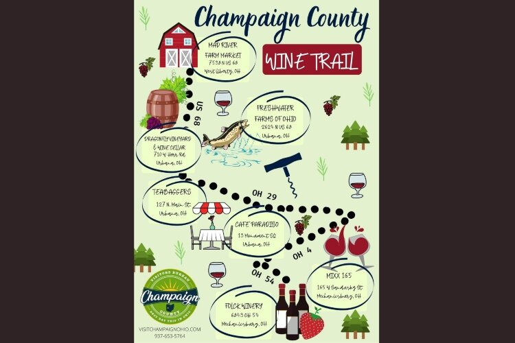 The Champaign County Wine Trail is one of a number of trails that feature fun things to do while supporting small businesses and local organizations.